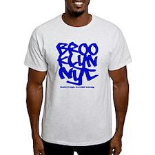 """""""BROOKLYN NYC"""" Ash Grey T-Shirt"""