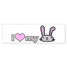 I Love my Bunny Bumper Bumper Sticker