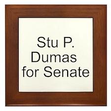 Dumas for Senate Framed Tile