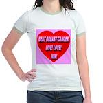 Beat Breast Cancer Live! Love Jr. Ringer T-Shirt