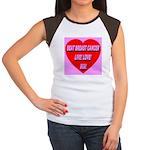 Beat Breast Cancer Live! Love Women's Cap Sleeve T