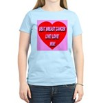 Beat Breast Cancer Live! Love Women's Pink T-Shirt
