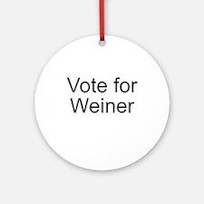 Vote Weiner Ornament (Round)