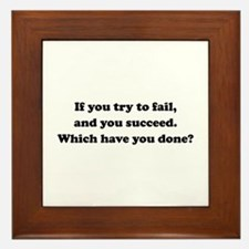 Which Have You Done? Framed Tile