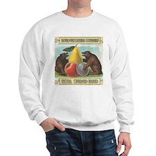 Vintage Crate Produce Label Bears Fruit Sweatshirt