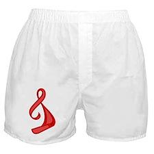 """Red Ribbon Twist"" Boxer Shorts"