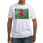 Beautiful Rose Photo Fitted T-Shirt