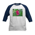 Beautiful Rose Photo Kids Baseball Jersey