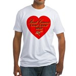 Beat Breast Cancer Live! Love Fitted T-Shirt