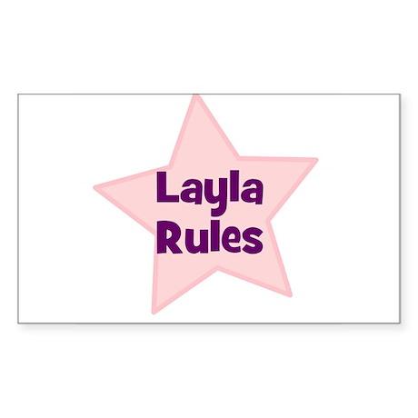 Layla Rules Rectangle Sticker
