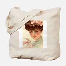 Victorian Lady Teacup Harrison Fisher Girl Tote Ba
