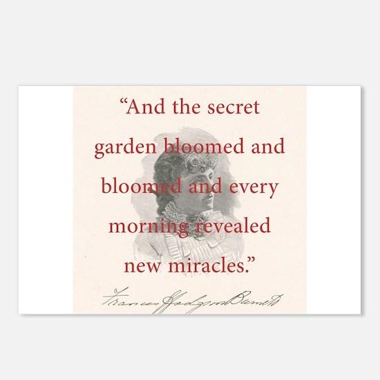 And The Secret Garden Bloomed - FH Burnett Postcar