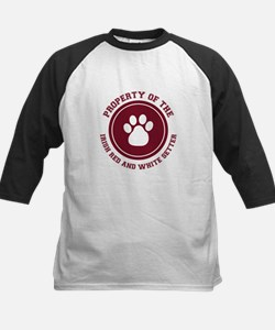 Irish Red and White Setter Kids Baseball Jersey