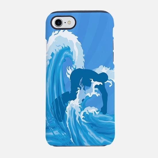 Retro look surfer designer iPhone 7 Tough Case