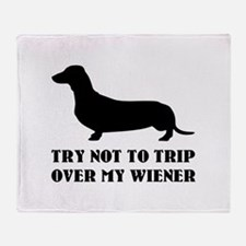 Try not to trip over my wiener Stadium Blanket
