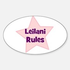 Leilani Rules Oval Decal