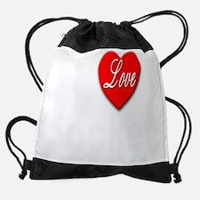ILoveHockeyTrans10x8.png Drawstring Bag