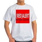 RED ALERT STOP AIDS Ash Grey T-Shirt