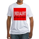 RED ALERT STOP AIDS Fitted T-Shirt