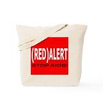 RED ALERT STOP AIDS Tote Bag
