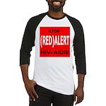 RED ALERT STOP HIV-AIDS Baseball Jersey