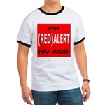 RED ALERT STOP HIV-AIDS Ringer T