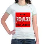 RED ALERT STOP HIV-AIDS Jr. Ringer T-Shirt
