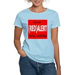 RED ALERT STOP HIV-AIDS Women's Pink T-Shirt