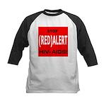 RED ALERT STOP HIV-AIDS Kids Baseball Jersey