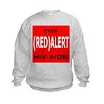 RED ALERT STOP HIV-AIDS Kids Sweatshirt
