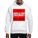 RED ALERT STOP HIV-AIDS Hooded Sweatshirt