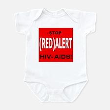 RED ALERT STOP HIV-AIDS Infant Bodysuit