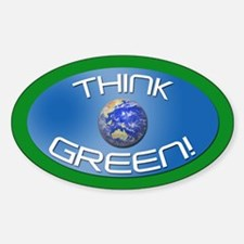 THINK GREEN! Oval Decal