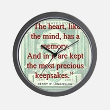The Heart Like The Mind - Longfellow Wall Clock