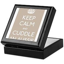 Keep calm and cuddle an aussie Keepsake Box