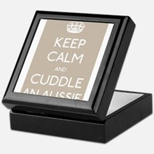 Keep calm and cuddle an aussie Keepsake Box