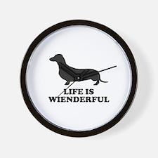 Life Is Wienderful Wall Clock