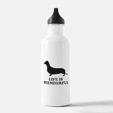 Life Is Wienderful Water Bottle