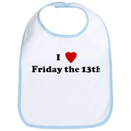 I Love Friday the 13th Bib