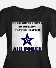 My Daugher Serves - Air Force Plus Size T-Shirt