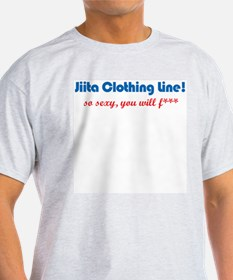 Jiita Clothing Line! censored Ash Grey T-Shirt