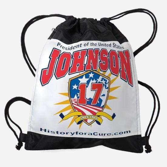 President Andrew Johnson.dark shirt Drawstring Bag