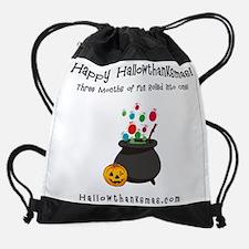 Hallowthankmas Cauldron Tee.jpg Drawstring Bag
