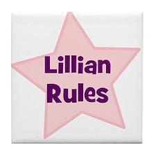 Lillian Rules Tile Coaster