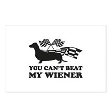 You can't beat my wiener Postcards (Package of 8)