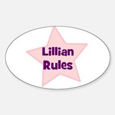 Lillian Rules Oval Decal