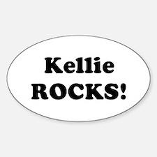Kellie Rocks! Oval Decal