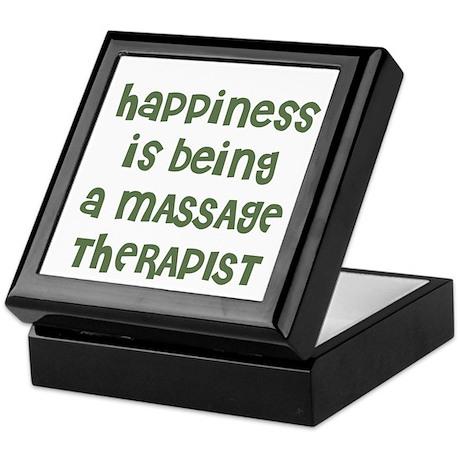 Happiness is being a MASSAGE Keepsake Box