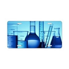 Beakers and test tube Aluminum License Plate
