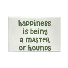Happiness is being a MASTER O Rectangle Magnet